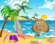 Pou at the beach játék