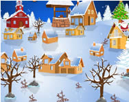 Snowy village decor berendez�s j�t�kok